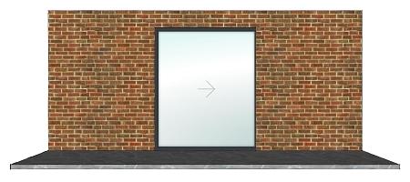 Vision Line SL20 1 Panel Aluminium Pocket Sliding Door - Anthracite on