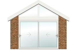 2 Panel Sliding Door with Gable