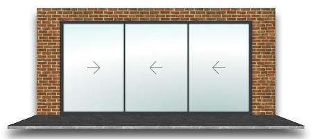 Vision Line SL20 3 Panel Inline Sliding Door - Anthracite Grey on